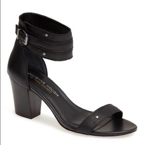 Black sole society block heels with stud detail